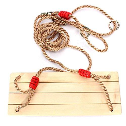 TOOGOO(R) Schaukelsitz Erwachsene und Kinder Schaukelsitz Schaukeln SchaukelBrett aus Holz Holzschaukel mit Sei