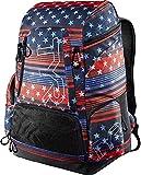 TYR - Mochila unisex con estampado de bandera de Estados Unidos, 45 l, color rojo/blanco/azul, 45 litros