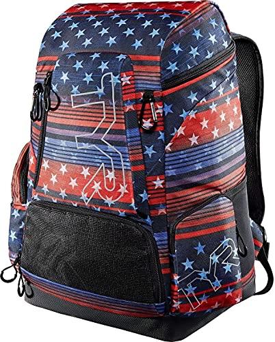 TYR Sac à dos unisexe avec motif drapeau des États-Unis 45 l Rouge/blanc/bleu 45 l