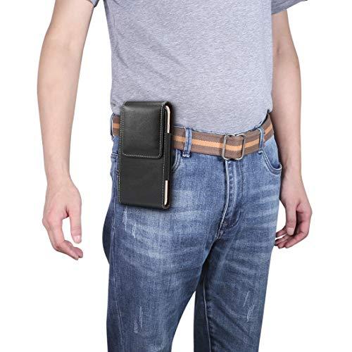 ZHANGYOUDE Bolso de Cintura de Textura de Piel de Cordero Vertical Universal de 6.0 Pulgadas para iPhone XS MAX, Galaxy S10, Huawei P30 Pro (Color : Black)