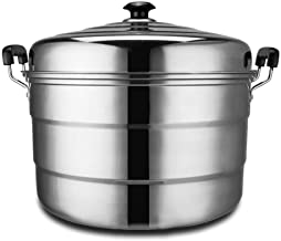 XMDD Thicken Oversized Stainless Steel Three-layer Steamer Canteen Hotel Commercial Large Multi-function Three-steamer (Co...