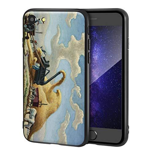 Thomas Hart Benton Custodia per iPhone SE(2020)/iPhone 7/8/per Cellulare Arti/Stampa giclée a UV sulla Cover del Telefono(Rice Trilla)