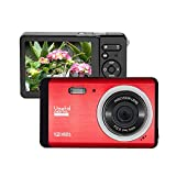 Digital Camera 12MP HD 2.8 Inch TFT LCD Screen, Vmotal HD Digital Camera Video Camera Digital Students Cameras,Indoor Outdoor for Adult/Seniors/Kids (Red)