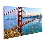 islandburner Cuadro en Lienzo Puente Golden Gate San Francisco California USA Cuadros Modernos Decoracion Impresión Salon