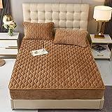 BAJIN Funda de colchón acolchada impermeable con sábana...