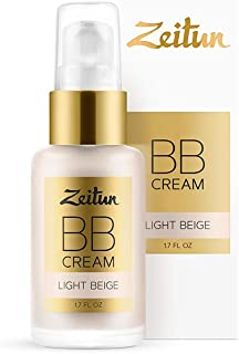 Zeitun Natural BB Cream Light Beige - Tinted Moisturizer - Hydrating Skin Perfector - Hypoallergenic and Fragrance Free BB Cream 1 fl oz