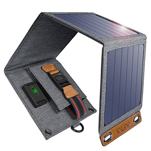 CHOETECH Solar Charger, 14W Solar Panel Phone Charger Waterproof Foldable...