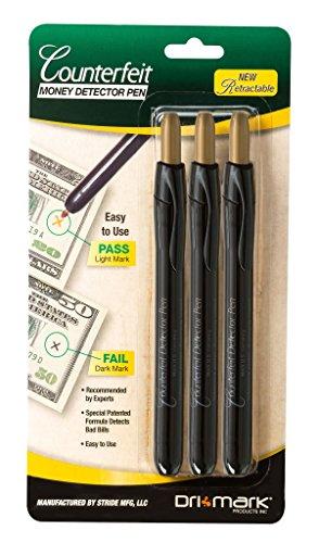 Dri Mark Counterfeit Detector Pen, 3 Pack (351RET3B)