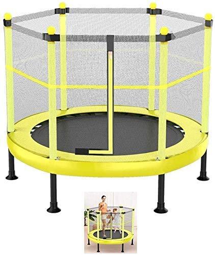 Suge niños Trampolín Ejercicio Plegable de 60 Pulgadas con el recinto de la Seguridad Trampolín Neto de Interior o al Aire Libre for niños Trampolín 600 lbs de Carga de WKY
