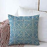 gong Federa da Cuscino Marocchino Acquerello Artistico Motivo Geometrico Tribale Rombo Str...