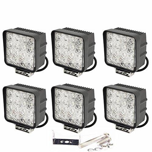6 focos LED SLPRO® de trabajo de 48 W, 3800 lumen, para...