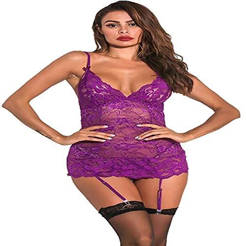 Shengluu Disfraz Colegiala Sexy Cosplay Las Mujeres Correas Bundle la Ropa Interior de la muñeca de la Ropa Interior Delantera Escote Stretch Fit Ropa de Noche del Bikini