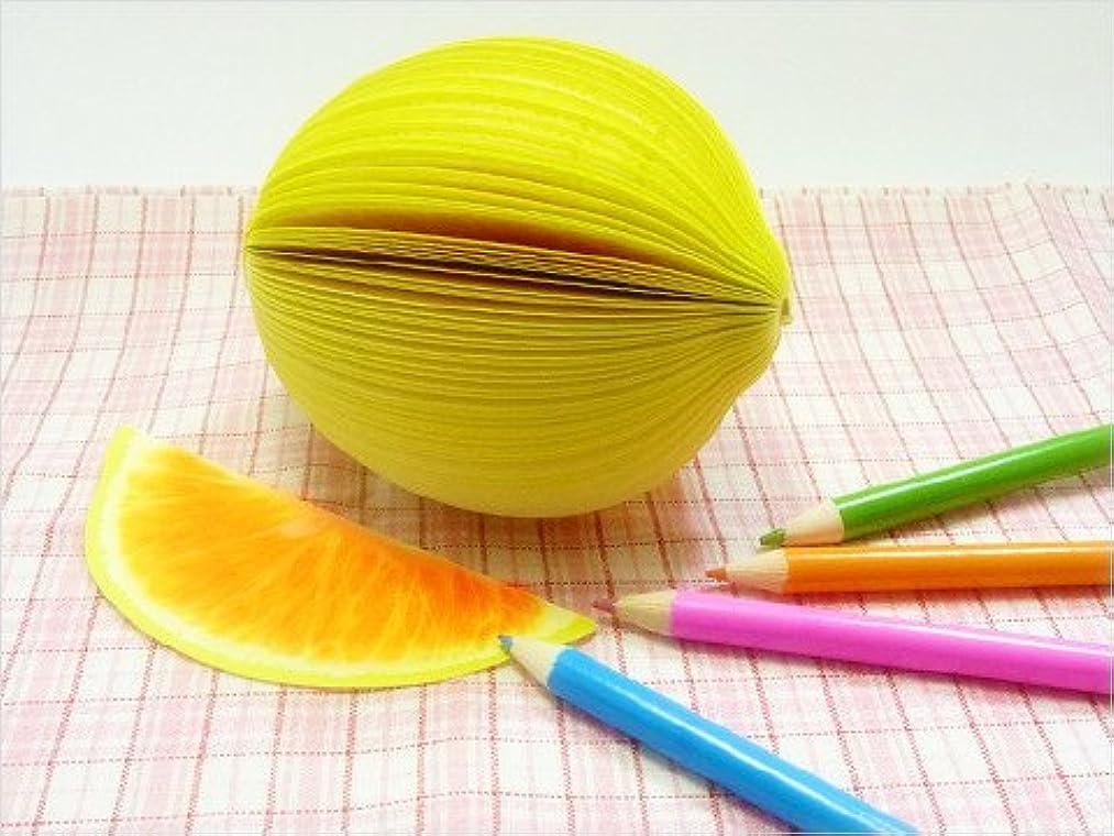 哀恐怖症恩恵【BlueSea】3Dフルーツメモ帳 レモン【果物のオシャレな立体メモ帳】