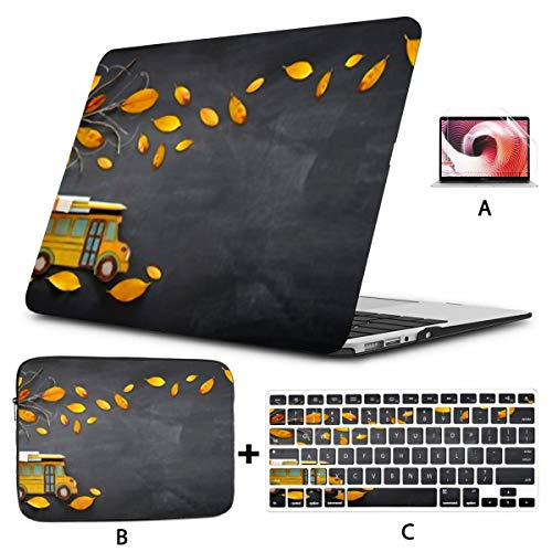 MacBook Case 13' Air No Touch ID 2010-2017 A1466/A1369,3D Rendering Abstract Fast Moving Stripe Plastic Hard Shell,Sleeve Bag,Keyboard Cover,Screen Protector,4 in 1 Laptop Case
