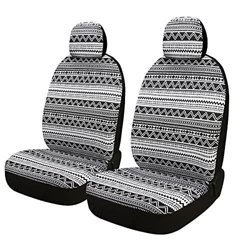 Auto-Sitzbezüge Vordersitze,Auto-Sitzbezug Set Universal für Fahrersitz,Schwerlast Decke Stoff,Schwarz (FR-D)