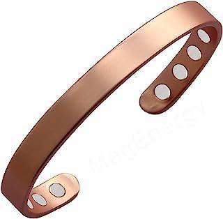 "Copper Bracelet for Men and Women 99.9% Pure Copper Bangle 6.5"" Adjustable for.."