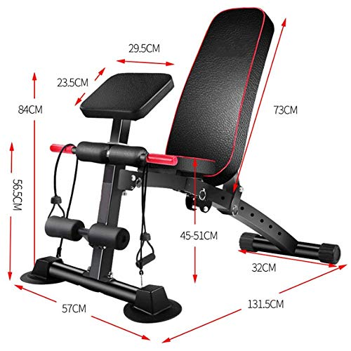 BATOWE Weight Bench Adjustable Weight Bench-Utility Gym Bench for Full Body Workout, Multi-Purpose Foldable Incline Decline Benchs Weight Bench Adjustable