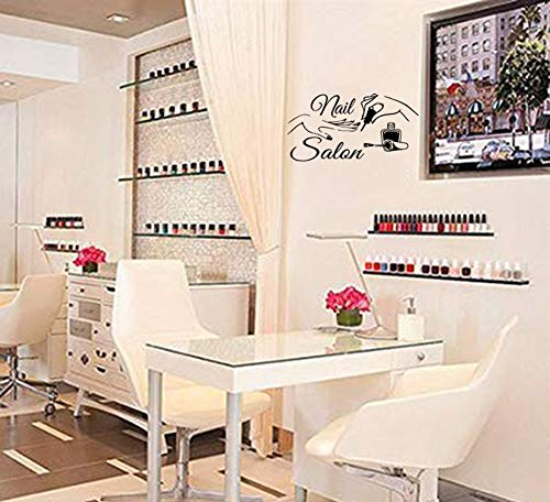 ADECALS Nail Salon Wall Sticker Removeable Quote Vinyl Wall Art Decals