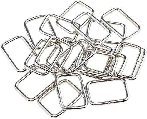 JLMMSS 20 stuks metalen vierkante gespen tas riem connectoren Webbing ringen voor doe-het-zelf tas portemonnee maken
