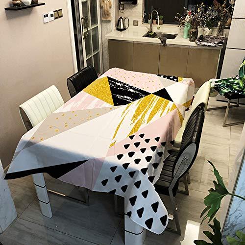 DJUX mantel patrón geométrico poliéster impresión hogar tapicería tela cubierta toalla fondo tela 100x140cmDJUX