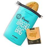 Bread bag to keep bread fresh, Bread storage bag, Bread bags for homemade bread, Reusable bread bag, Reusable Freezer Bag - ÖKO TEX 100% Recycled
