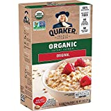 Quaker Instant Oatmeal, USDA Organic, Non-GMO Project Verified, Original, Individual Packets, 8/box- pack of 6 boxes, total 48 Count