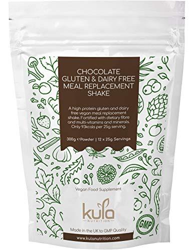Kula Nutrition Protein Shake – Abnehmen – 300g – Sojaprotein-Isolat für Gesunde Diät & Mehr Energie – Mit Schokolade, Vitaminen & Mineralien – 12x25g Portionen – Milch & Glutenfrei