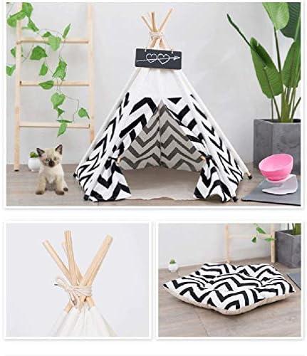Sunnykud Chien Tente tipi pour Animaux De Compagnie avec Coussin Lavable Amovible Tentes Sweet House Pet Dog Jouer Tente