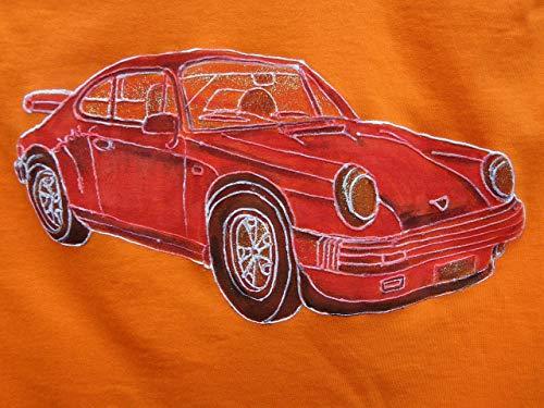 Porsche 911 Carrera, Baby Kinder T-shirt, Original Gemälde T-shirt, Auto-Racing, Auto-Dekor, Limited Edition, personalisieren Auto, Kunst T-shirt,7-8 years 43/55cm.