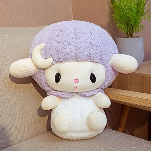1Pc 40Cm Lovely Lucky Purple Dream Angel Sheep Doll Peluche De Juguete, Animal De Peluche, Decoración De Regalo para Niños Y Niñas, Cumpleaños