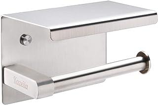 Kazeila Toiletpapierhouder SUS304 roestvrij staal roestvrij badkamer toiletpapier rolhouder met mobiele telefoon opbergopp...