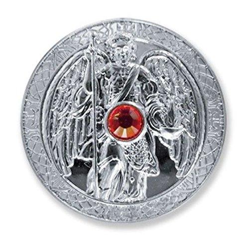 Moneda de la suerte Ángel de la guarda, arcángel arcángel Uriel plata taler cristal Swarovski Ø 27 mm   talismán amuleto de la suerte símbolo de la suerte esotérica