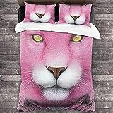 AZCCDM Pink Panther - Juego de ropa de cama para niños y adolescentes, funda nórdica de 1 funda nórdica y 2 fundas de almohada, microfibra suave y cómoda (B2,200 x 200 cm + 50 x 75 cm x 2)