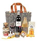 Ducs de Gascogne - Coffret gourmand 'Pêcher Mignon' - comprend 9 produits dont un bloc de foie gras, un vin rouge et un vin blanc moelleux - spécial cadeau (946562)