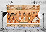 BELECO 7x5ft Egyptian Backdrop Ancient Egypt Scene Mythology Godsand Pharaohs Hieroglyphic Temple Murals Phtography Backdrop for Party Decorations Supplies Photoshoot Photo Background Props