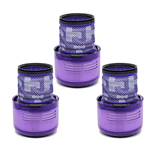 Wolfish 3 Pack Vacuum Filters Replacement for Dyson Cordless Vacuum V11, Dyson V11 Torque Drive Vacuum and Dyson V11 Animal.Compare to Part # 970013-02