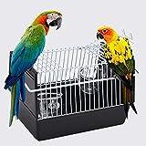 scatola di trasporto per uccelli piccoli trasportini per animali domestici portatile gabbia per pappagalli gabbia per uccelli da viaggio per il trasporto, colore: nero
