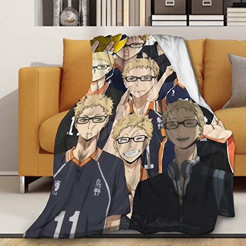 Haikyu! Kotaro Bokuto - Manta de franela suave, colcha de noche de cine, manta de verano para sofá, aire acondicionado, ropa de cama de 127 x 101 cm