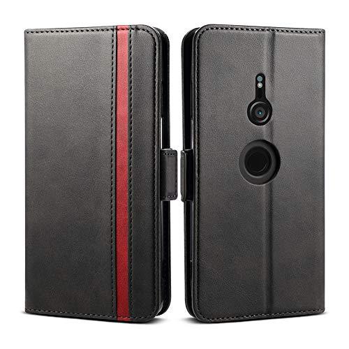 Xperia XZ3 ケース 手帳型 SO-01L SOV39 801SO 手帳型ケース Rssviss エクスペリア XZ3 カバー サイドマグネット カード収納 横置き機能 PUレザー XZ3 スマホケース 財布型 Sony Xperia XZ3 SO-01L SOV39 801SO用 W5 ブラック