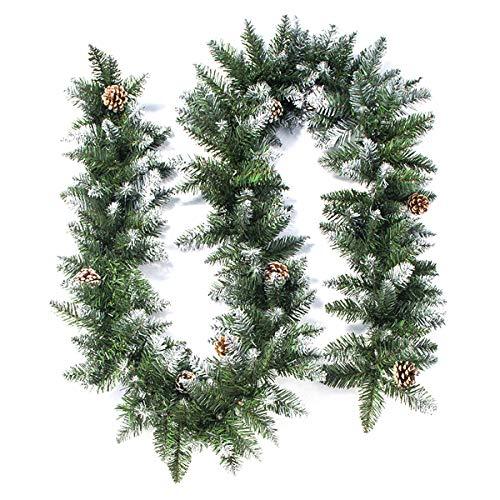 Outdoor Verde Floreale Corona MagiDeal Eucalipto Ghirlande di Natale Porta Anteriore Grandi Foglie Verdi Corona per la Primavera Estate Tutte Le Stagioni