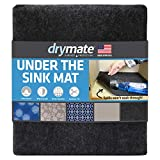 "Drymate Premium XL Under The Sink Mat (24"" x 59""), Cabinet Protection Mat, Shelf Liner - Absorbent/Waterproof/Slip-Resistant - Machine Washable, Durable (Made in The USA) (Charcoal)"