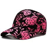 NMBD Gorra de béisbol de Las Mujeres Simples Pintura Bordado de los floristas Snapback Cap Mujer Mujer del Acoplamiento del Verano del Sombrero de Sun Regalo Hombre Ajustable KAIRUI (Color : Pink)