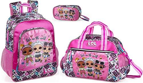 LOL Surprise Mochila, bolsa de deporte y estuche para niña mochila de día bolsa de entrenamiento L.O.L. Para muñecas.