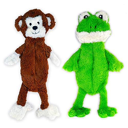FGA MARKETPLACE Flat NO Stuffing NO Squeak Plush Dog Toy, Funny Style Will Entertain Your Dog for...