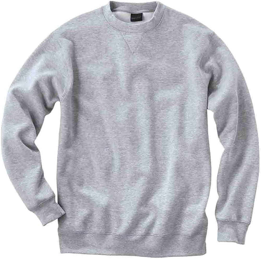River's End Mens Crew Neck Sweatshirt Athletic - Grey