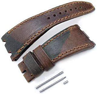 Cinturino cinturino in cinturino con motivo Strapcode Cinturino cinturino in pelle con motivo Artico, cucito a mano su mis...