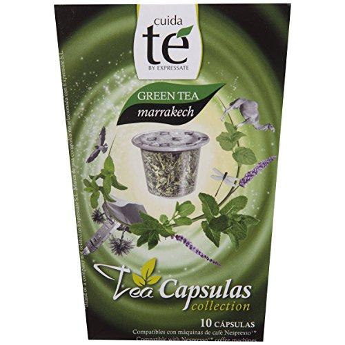 Cuida te Green Tea Marrakech, Grüner Tee mit Minze, Nespresso kompatibel, 10 Kapseln