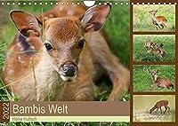 Bambis Welt (Wandkalender 2022 DIN A4 quer): Sikawild in der Natur (Monatskalender, 14 Seiten )