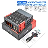 diymore STC-1000 - Termostato digital con sensor NTC, STC-1000 AC110V-220V, 1