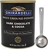 Ghirardelli Sweet Ground Dark Chocolate & Cocoa Powder, 3 Pound Can with Limited Edition Measuring...